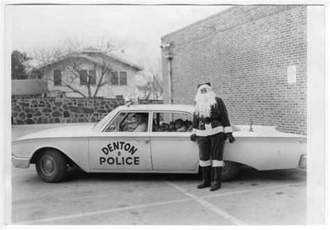 City Of Denton Arrest Records Andy In City Of Denton Car With Presents Santa Claus Leans Against