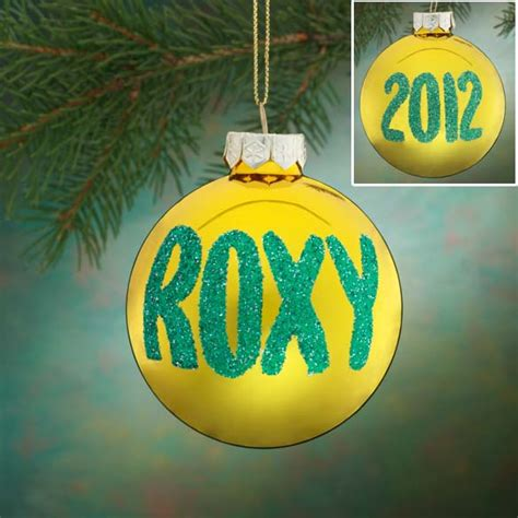 Name Ornaments - personalized name and date glitter ornament
