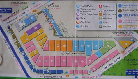 chatuchak market sections chatuchak market map