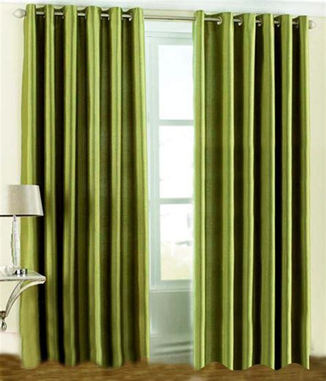 green door curtain fnspace green polyester plain door curtain buy fnspace