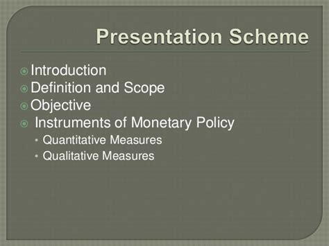 Scope Of Be Mechanical Mba by Quantitative Tools Of Monetary Policy