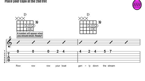 row boat guitar chords 44 strumming the chords to row row row your boat youtube