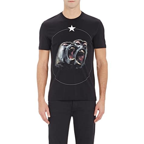 T Shirt Monkey lyst givenchy s monkey t shirt in black for