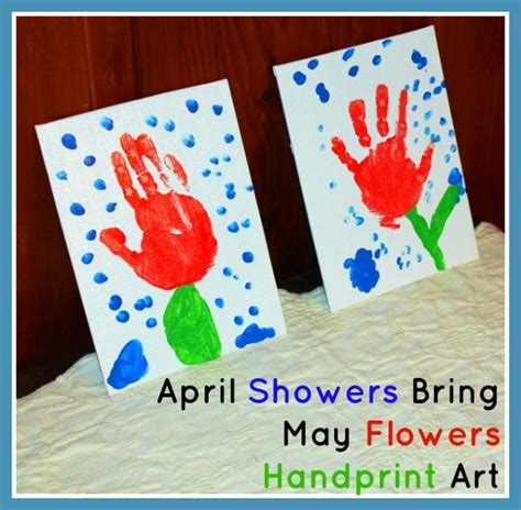 april crafts for quot april showers bring may flowers quot handprint