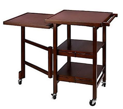 quot as is quot folding island expandable hardwood kitchen cart