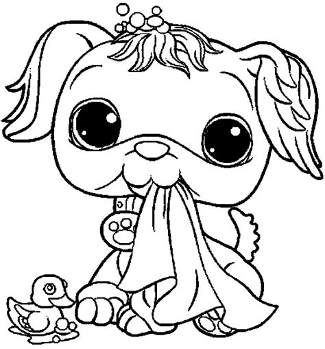 free my little pet shop coloring pages