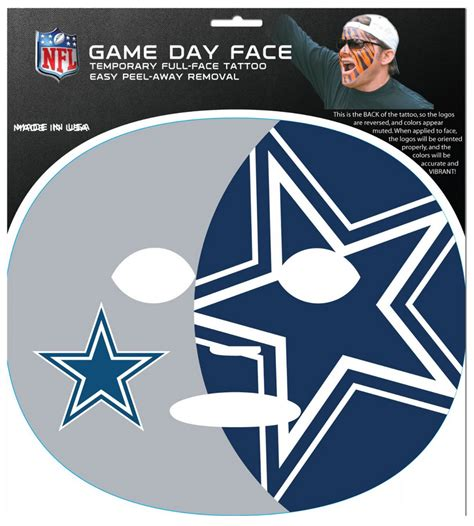 game face tattoos dallas cowboys the gameface company