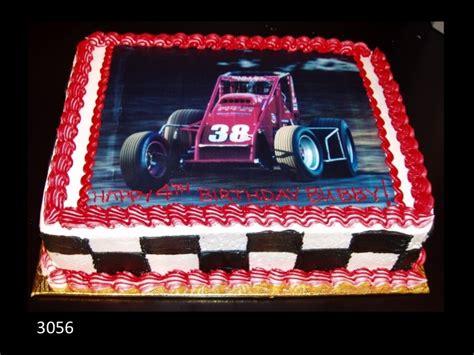 race car birthday cake  edible picture  checker