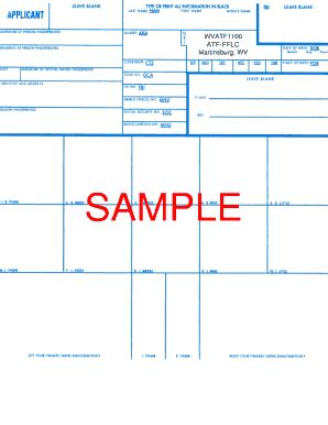 Where Do I Send My Fingerprints For Fbi Background Check 1999 Form Doj Form Fd 258 Fill Printable Fillable Blank Pdffiller