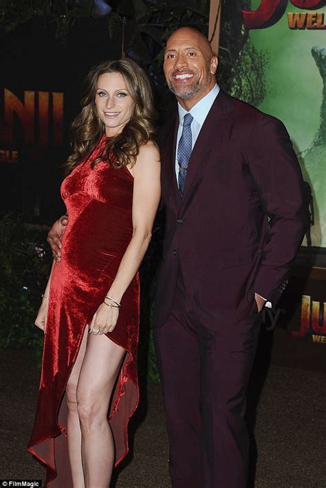 dwayne the rock johnson lauren hashian dwayne johnson and lauren hashian attend jumanji premiere