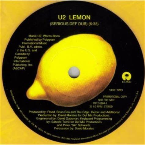lemon u2 u2 lemon yellow marbled vinyl 10 quot special limited