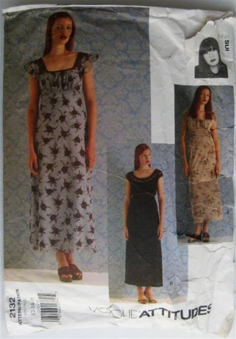 Vogue Pattern Numbers | vogue attitudes ladies dress pattern number 2132