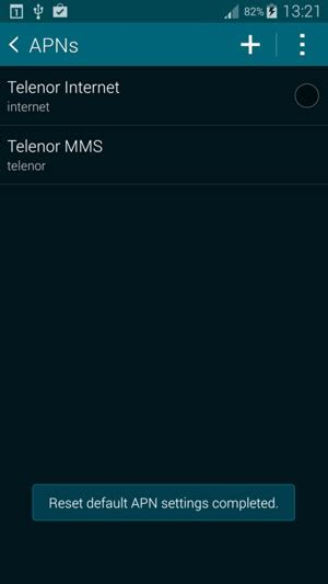 reset android internet settings set up mms samsung galaxy alpha android 4 4 device