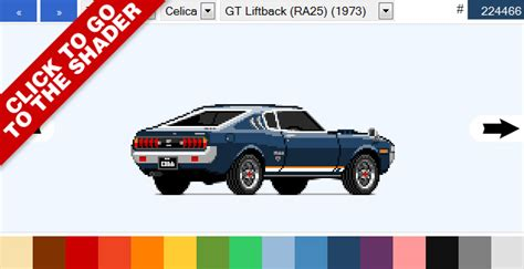 pixel car top more pixel art datsuns datsun 1000
