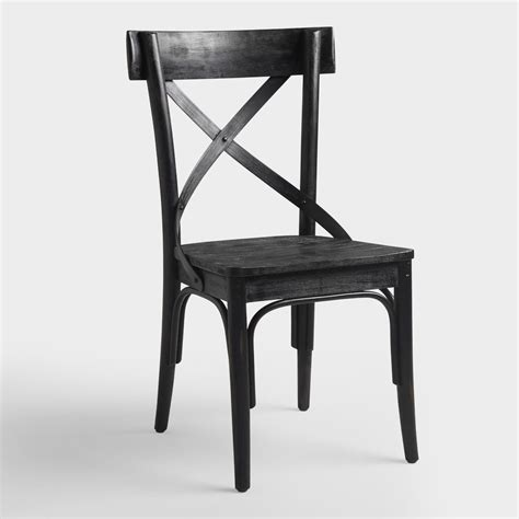 Bistro Dining Chairs Black Bistro Side Chairs Set Of 2 World Market