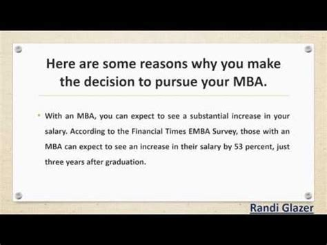 Earning An Mba by Randi Glazer The Benefits Of Earning An Mba