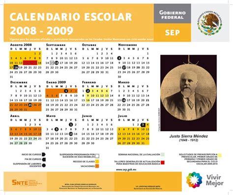 sep publica estos dos calendarios del ciclo escolar 2016 ma 241 ana concluye el calendario escolar 2008 2009 de la sep