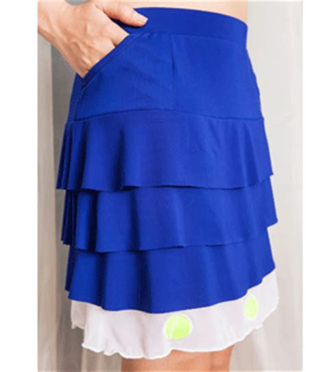 you s ruffle tennis skirt royal blue