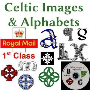 alfabeto celtico lettere celtic letters alphabet images and icons on cd ideal for