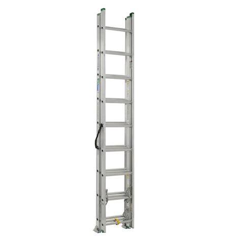 3 section extension ladder werner 24 ft aluminum 3 section compact extension ladder