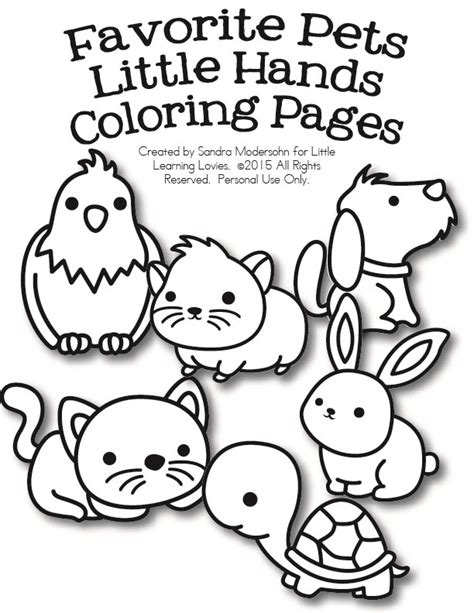 pets coloring pages preschool free set of pet coloring pages free homeschool deals