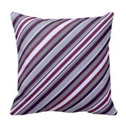 purple and grey stripes pillows zazzle