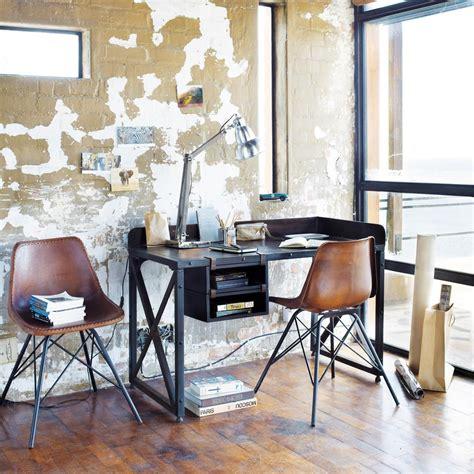 vintage stoel austerlitz silla industrial de cuero y metal marr 243 n austerlitz