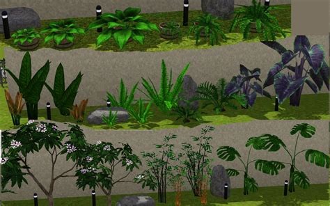 mod the sims 3 small potted plants mod the sims plant pack pt3 shrubs