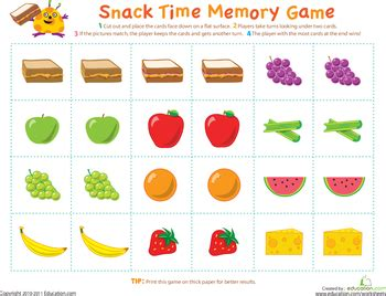 printable memory games picture memory game worksheets gaming and school