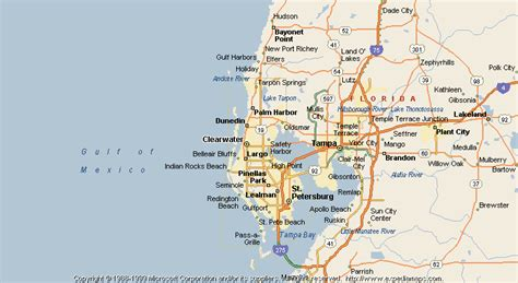 clearwater florida on map map of clearwater
