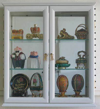 Small Wall Mounted Curio Cabinet / Wall Display Case with