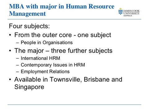 Mba In Hr Singapore master business administration cook 2011