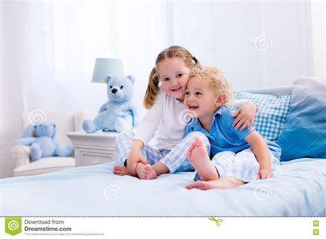 to play in the bedroom in white bedroom stock photo image 73608731