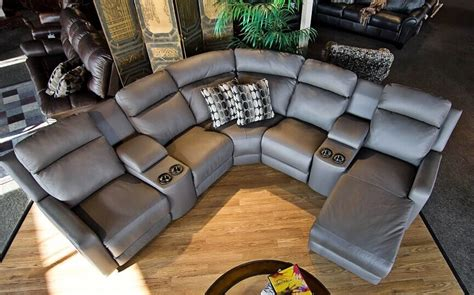 leather reclining sectional with cup holders power recliner with cup holder contemporary reclining