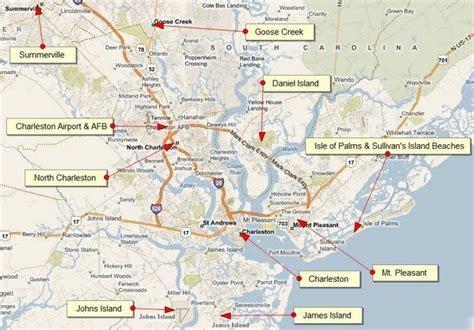 Pleasant Beach Village by Charleston Area Map Mount Pleasant South Carolina