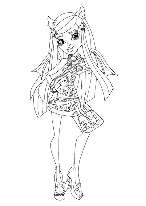 monster high ghouls coloring pages free printable monster high coloring pages rochelle goyle