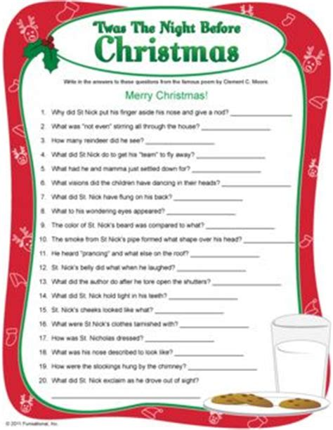 printable christmas quiz with pictures night before christmas quiz printable christmas game