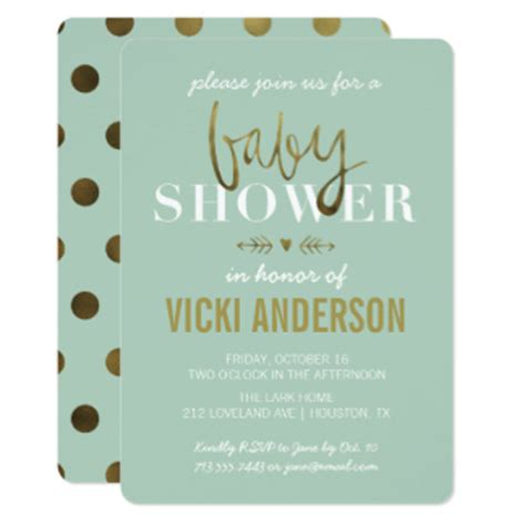 Modern Baby Shower Invitations by Modern Baby Shower Gifts On Zazzle