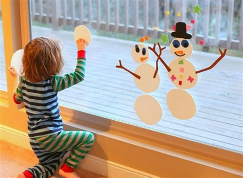 Fensterdeko Basteln Weihnachten Kinder by Bezaubernde Winter Fensterdeko Zum Selber Basteln