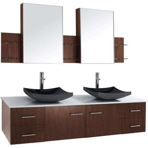 Zebra Wood Bathroom Vanity 72 Quot Wall Mounted Bathroom Vanity Zebrawood Free Shipping Modern Bathroom
