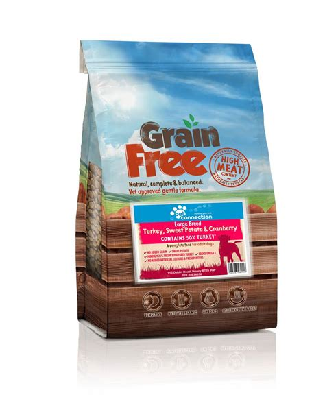 is grain free food better pet connection grain free food for large breed dogs turkey 12kg