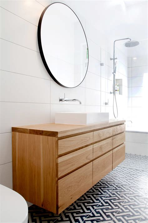 White Tile Bathroom Designs by Solid Timber Vanities Bringing Warmth To Your Bathroom