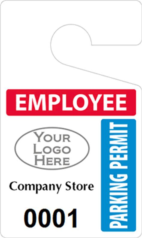 Employee Parking Permits Myparkingpermit Com Parking Placard Template