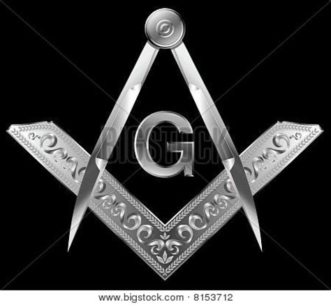 Picture Or Photo Of Masonic Square And Compass Vector Design Elements Illustration Freemason Website Templates