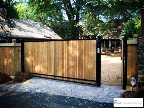 a sliding wood driveway gate beautiful driveway gate