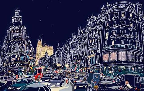 cuadros gran via madrid cuadros de jorge arranz cuadro madrid gran via noche