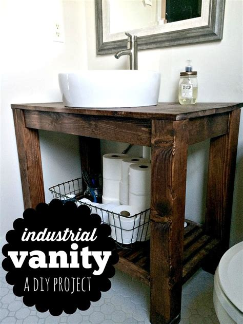 diy industrial farmhouse bathroom vanity industrial