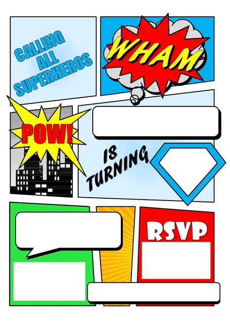 make your own comic book printable superhero comic book