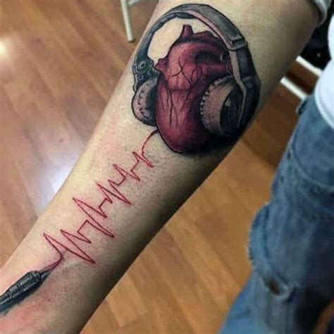 heartbeat tattoo for guys heartbeat tattoos for men ideas and inspiration for guys