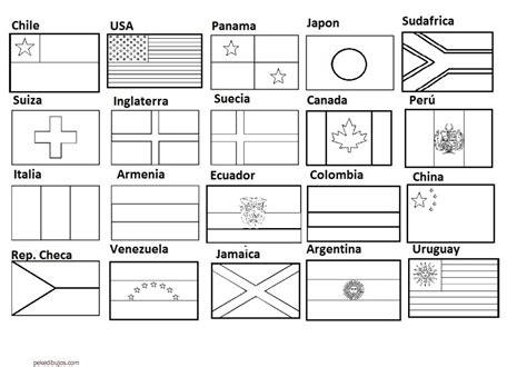dibujos de banderas del mundo para imprimir dibujos de banderas para colorear